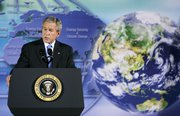 President Bush speaks during the Major Economies Meeting on Energy Security and Climate Change on Friday at the Department of State in Washington, D.C.