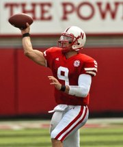 Nebraska quarterback Sam Keller throws against Iowa State. The Cornhuskers will face Missouri on Saturday.
