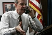 Rep. Jerry Moran, R- Kan., talks with constituents in his Capitol Hill office in Washington, D.C. Moran has been hinting to key GOP supporters that he may soon be ready to launch a statewide bid.
