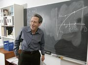 Eric Maskin, professor at the Institute for Advanced Study in Princeton, N.J., has reason to smile in his office: He is one of three Americans to share the Nobel prize in economics.