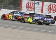 Jeff Gordon (car No. 24) and Jimmie Johnson (car No. 48) are in first and second place in the Chase for the Nextel Cup.