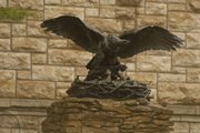 The Victory Eagle sits outside at Kansas University's Dyche Hall. The sculpture, like the doughboy statue formerly at Victory Junction in Wyandotte County, was one of a series of memorial artworks. New growth in Wyandotte County has led NASCAR driver Kyle Petty to consider a Victory Junction Gang Camp in the Kansas City area.