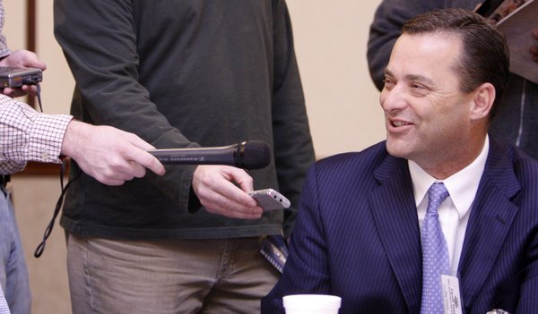 Billy Gillispie speaks to the media in this 2007 file photo.