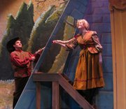 "Patrick Weaver, left, and Elizabeth Sullivan star in Seem-To-Be-Players&squot; version of ""Rapunzel."""