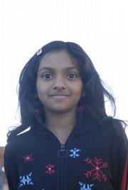 Sunflower Elementary School third-grader Tehreem Chaudhry.