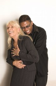 Jazz pianist Herbie Hancock, right, recently recorded an album of songs by Joni Mitchell (right), a friend who shares his penchant for genre-bending musical adventures.