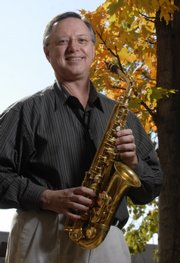 Vince Gnojek, a well-traveled saxophone player and Kansas University music professor, is one of the winners of the 2007 Phoenix Awards given by the Lawrence Arts Commission.