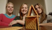 The Burke sisters are longtime participants of the Eldridge Gingerbread Festival & Auction, a benefit for Big Brothers-Big Sisters of Douglas County that kicks off with a public viewing Friday. From left are Cali, 17, and BryAnn and Ainsley, both 15.