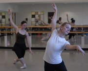 Dancer Shannon Pickett, right, rehearses her role as the Snow Queen.