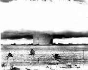 Bikini Atoll was the site of more than 20 nuclear weapons tests between 1946 and 1958, including the first test of a hydrogen bomb in 1952.