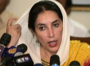 Pakistan's former Prime Minister Benazir Bhutto addresses a news conference Saturday at her residence in Karachi, Pakistan. Military ruler Pervez Musharraf imposed emergency rule Saturday, suspending the constitution before a crucial Supreme Court ruling on his future as president.