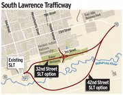 South Lawrence Trafficway: 32nd and 42nd St. options