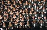 Members of Kansas University's Symphonic Choir perform during the 82nd Holiday Vespers in 2006.