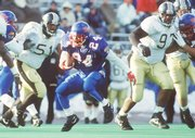 Tony Sands (24) running for some of his 396 yards in 1991