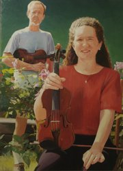Musicians Byron Wiley, left, and Jill Brandenburg are rendered in Hotvedt's portrait collection.