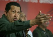 Venezuela's President Hugo Chavez speaks at a news conference Wednesday at Miraflores presidential palace in Caracas in this photo released by Miraflores Press office. Newly declassified State Department documents detail the troubled relationship between Chavez and the U.S.