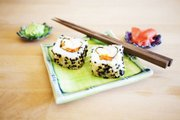 Since guests can be finicky about their sushi, letting them make their own rolls ensures they can select what they like. It's easy and fun, too.