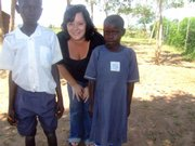 Kate Von Achen with Ugandan children in 2007.