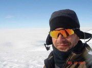 Mark Andresen took a self portrait as he hiked near the camp in the Antarctic. Andresen said the air was so clear that he could see farther than he'd ever experienced.