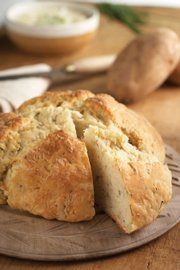 Irish potato bread is a type of crunchy soda bread that shows the diversity of meals that can be made with potatoes.