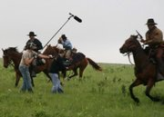 "Cast and crew collide while filming Quantrill&squot;s raid on Lawrence during production of Ken Spurgeon&squot;s ""Bloody Dawn."""