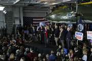 Republican presidential hopeful Sen. John McCain, R-Ariz., speaks at a campaign event Friday on the aircraft carrier Yorktown in Mount Pleasant, S.C.