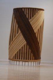 Wood sculpture by artist Matthew Burke.