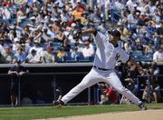 The Yankees' Andy Pettitte delivers against the Philadelphia Phillies. Pettitte threw two scoreless innings in the Yankees' 7-7 tie Sunday in Tampa, Fla.