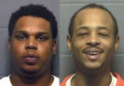 "Major C. Edwards Jr., left, and Durell Jones face murder charges in the October 2006 shooting death of Anthony ""Clacc"" Vital."