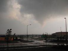 The tornado which struck southwest Lawrence on May 8, 2003.