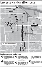2008 Lawrence Half-Marathon route