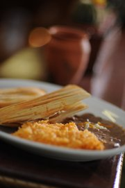 The Tamale Plate at Tres Mexicanos.