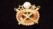 "A 1905 pin given to Luther ""Dummy"" Taylor by his New York Giants teammates upon his retirement."