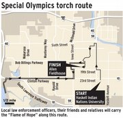 "Local law enforcement officers, their friends and relatives will carry the ""Flame of Hope"" along this route."