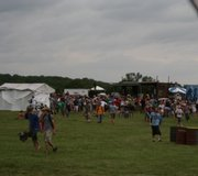 Wakarusa Festival fans leave a stage after event organizers advise attendees of an approaching severe storm June 5, 2008. The National Weather Service issued a severe thunderstorm warning in Douglas County, indicating an approaching storm could produce strong winds and hail. Many people who could chose to leave the park in their vehicles.