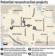 Potential reconstruction projects