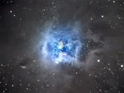 The Iris Nebula, a nebula 1,400 light-years away from earth, is what is called a reflection nebula, meaning it shines by the light it reflects from the brightest star in its center. It is located in the constellation Cepheus.
