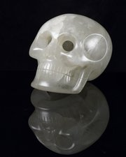 The Smithsonian Crystal Skull is shown in this undated photo provided by the Smithsonian Institution.