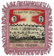The future owner of the Washington Senators was just the batboy when this 1924 souvenir pillow was made. It sold for $3,600 at Sotheby's New York.