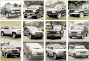 "These are a fraction of the SUVs, trucks and vans for sale Friday in the Lawrence area. As gasoline prices rise, ""for sale"" signs on such vehicles have become more common sights."