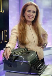 "Author Danielle Steel readies for an appearance on the NBC ""Today"" show in New York. Steel has published ""Rogue,"" her 75th book."
