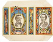 Even candy wrappers can be expensive political memorabilia. A Tilden & Hendricks wrapper from the 1876 campaign auctioned for $448 at Heritage Galleries in Dallas.