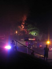 Stephanie Sullivan arrived on the scene of the fire at 1005 Indiana just after the firetrucks did.
