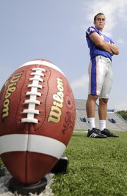 Stephen Hoge is one of three kickers vying for the starting job at Kansas University. Hoge is battling with fellow red-shirt freshman Jacob Branstetter and junior-college transfer Grady Fowler.