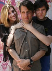 Adam Nimoy, center, writes about life with his kids, daughter Maddy and musician son Jonah.