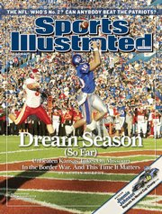 The SI cover that featured Meier hauling in a score.