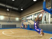 This artist's rendition of the new Kansas University basketball practice facility shows three of the seven planned baskets and the windows looking out on Allen Fieldhouse to the east. The windows will have the ability to be shaded to prevent spying on closed practices. Dunking Darrell Arthur (00) not included.