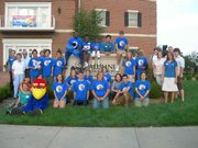 Members of the new Lawrence chapter of the KU Alumni Association gather with incoming freshmen and transfer students for the 2007 Jayhawk Generations Picnic, held at the Adams Alumni Center. Douglas County now has its own Alumni Association chapter.