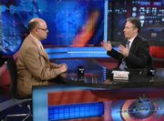 "Perlmutter appeared on ""The Daily Show with Jon Stewart"" in an episode that aired in May."