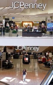 Consumers shop at the J.C. Penney's department store in Pleasanton, Calif. J.C. Penney Co. is reporting that its second-quarter profit slid 36 percent, while predicting that earnings in the current quarter will fall short of Wall Street expectations as customers pull back on buying clothing in a tough economy.
